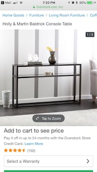 Console table - black and glass Rockville, 20852