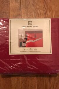 Essential Home Twin Sheet Set - Red Temple Hills, 20748