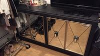 Modern black glass buffet but can be used as tv stand dresser Yonkers, 10710