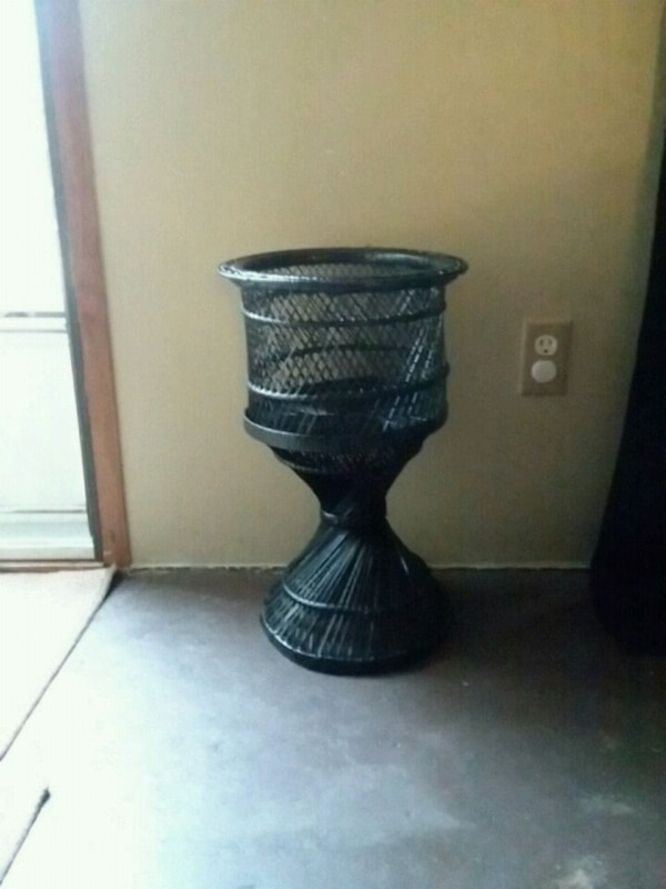 black wicker footed side table