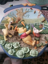 pooh collectable plate