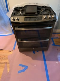 GE profile gas range with double oven