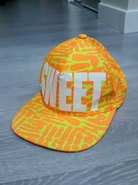 Orange and yellow sweet fitted cap