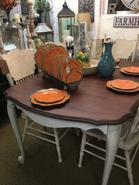 rectangular brown wooden table with six chairs dining set Germantown, 20874