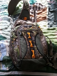 black and green backpack Fenton