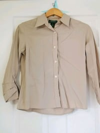 women's brown dress shirt Ajax, L1S