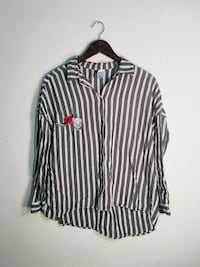 black and white stripe dress shirt Montréal, H3W 1E6