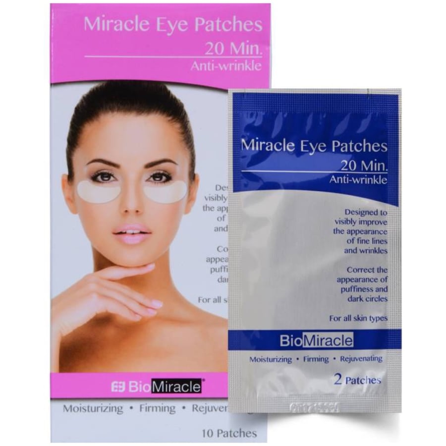20 Minute Miracle Eye Patches - 10 Patches (5 Pairs)