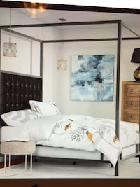 New King Upholstered Canopy Bed  Airdrie, T4B 3W3