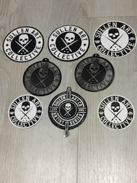 8 Sullen stickers - artist series stickers are more rare.