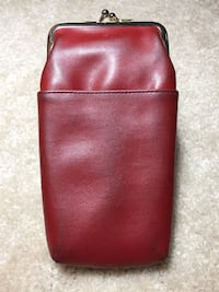 Red leather coin purse Fairfax, 22032