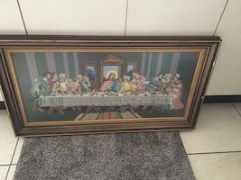 Hand made picture last supper