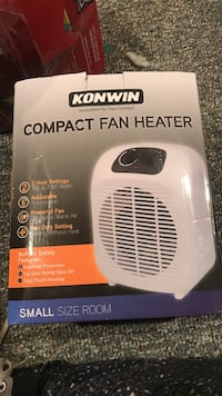 white Konwin compact fan heater box Mansfield, 44905