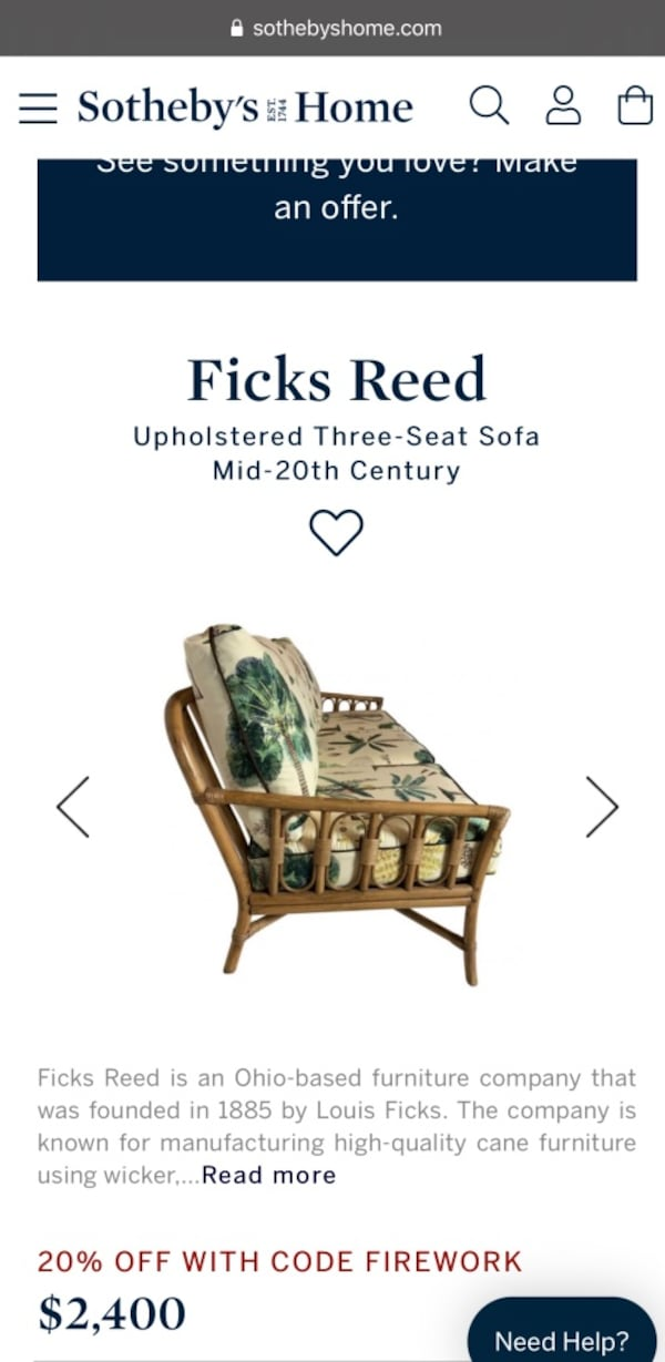Used Ficks Reed 7 Piece Rattan Furniture Set For Sale In Ghent