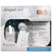 Angelcare Baby Monitor with Breathing Sensor Pad and Sound, White (AC-403) Toronto, M5G 2K5