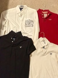 three white, black, and red polo shirts Morrisville, 27560