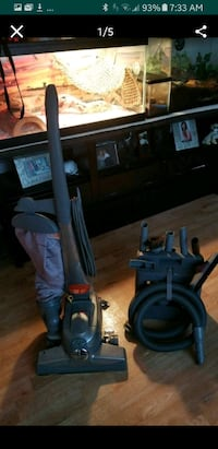 black and gray upright vacuum cleaner Pacifica, 94044