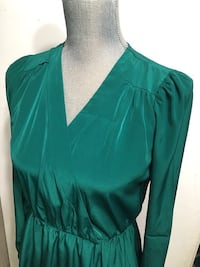 ASOS Emerald Green Surplice Dress Toronto