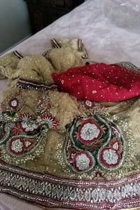 wedding lengha with real swarovski crystals  hand  Guelph, N1G 5H2