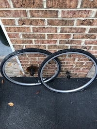 two black and gray bicycle wheels Sterling, 20165