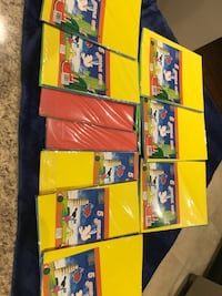 Kids art and craft foamy sheets . 5 multicolour sheets in one pack. Total 30 packs. All in $ 15 or $ 1 each  Brampton