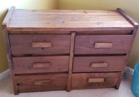 brown wooden 6-drawer dresser Indian Head, 20640