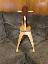 Infant Wood Rocking Horse.