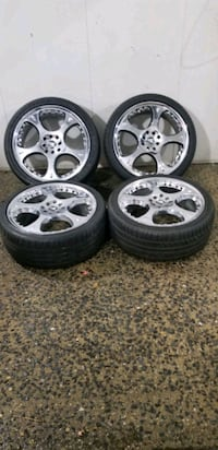 4 18 in 4x100  4x114.3  wheels rims and tires   tires are like new   s Potomac, 20854