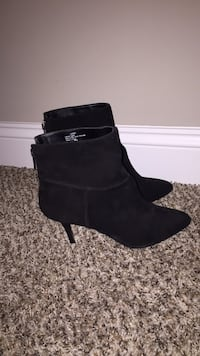 pair of black suede booties O'Fallon, 63366