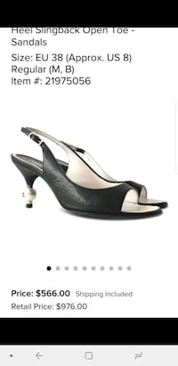 Size 38 chanel pearl edition leather heels