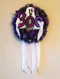 Boo! Ghost Halloween Wreath Charlotte