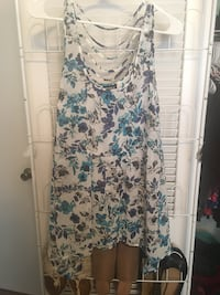Torrid 0X Blue Floral Tank Never Worn Mobile, 36693