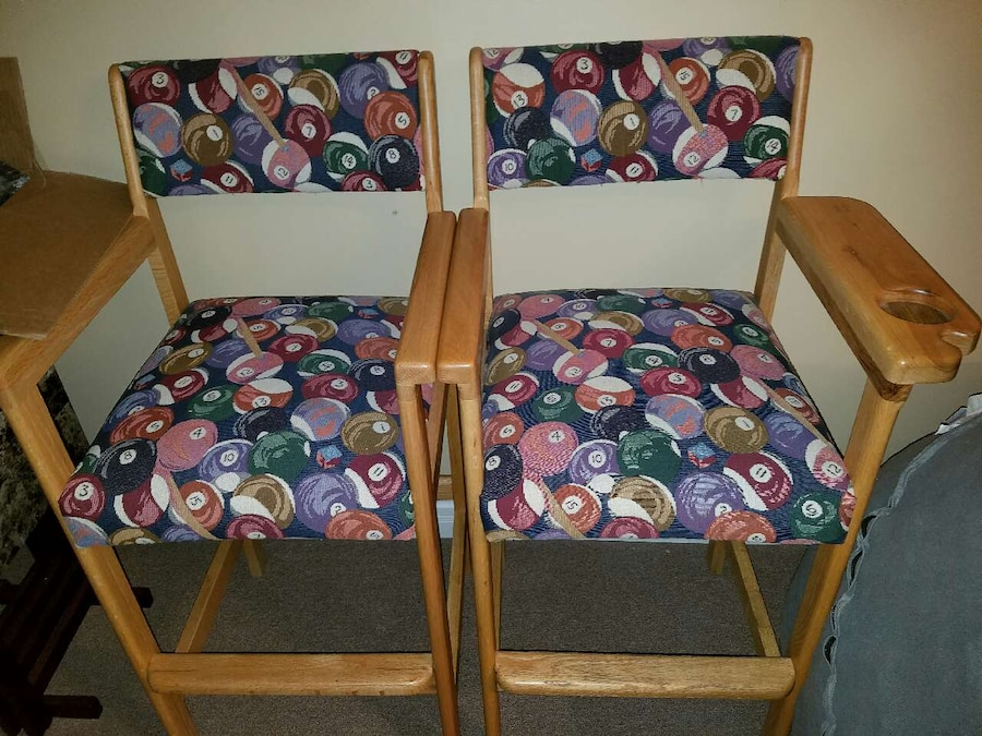 Used Pool Table Spectator Chairs In Mayfield