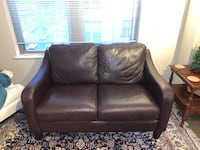 Brown leather two seat couch Washington, 20009