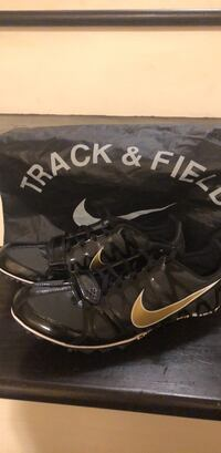 Pair of black-gold / camo zoom rival s size 10 new with all Accessories Bag/ key /spikes Hanover Park, 60133