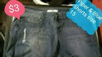 Piper and Blue shorts size 15 Parkersburg, 26101