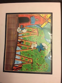 Smurfs animation cel 20 mi