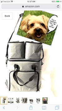 Dog Pet Travel Tote - Bag, 2 Food Carriers, Airline Approved