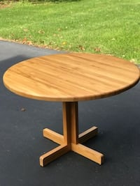 Oak Butcher Block table w/glass top Rehoboth