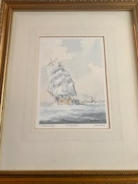 Pair of artists proofs by Alan Stark Nautical   signed watercolors Boynton Beach, 33426