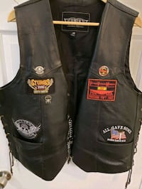black leather Harley Davidson biker vest. West Valley City, 84128