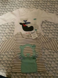 Brand new baby clothes tops 3-6 months