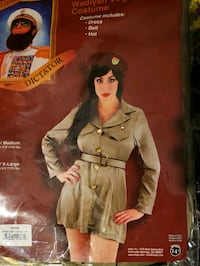 Adult Womens Sz Large  Sexy Girl Scout Military Spy Halloween Costume  Canton