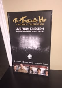 Original Tragically Hip Final Concert Poster framed