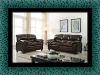 Burgundy sofa and loveseat Fairfax