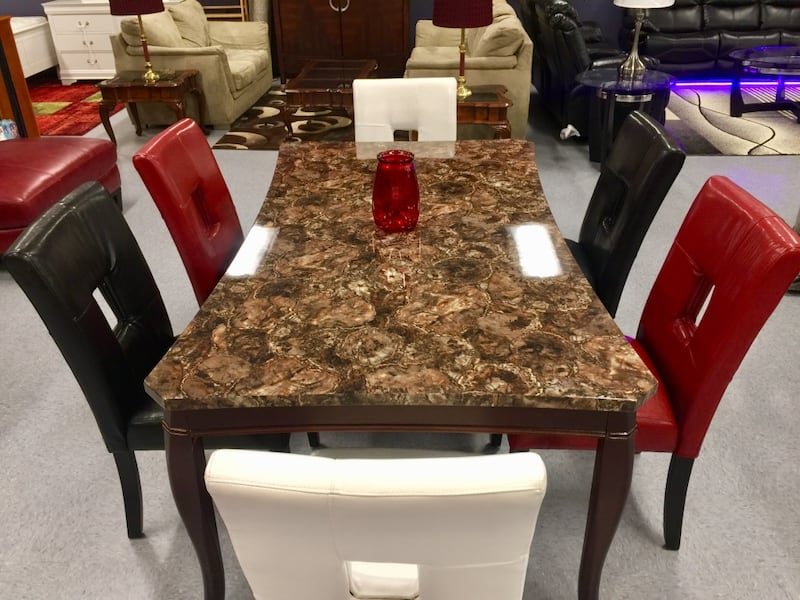 Traditions 6 Seater Dinning Room Set  (Mix & Match Chair Colors) 5b7dc712-ff03-4550-a636-902cfb9f5c55