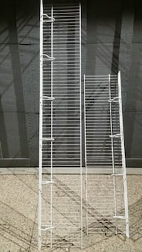 2 - WIRE SHELVES **COMES WITH THE HARDWARE!!**