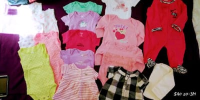 Name Brand baby clothes size0-24M (new and lightly