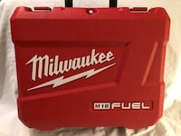A Milwaukee M18 fuel hammer drill tool case. Tool case only  Vacaville, 95687