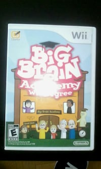 Big Brain Acedemy Nintendo Wii game case